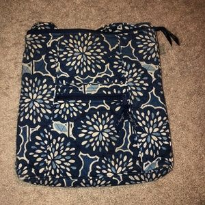 Vera Bradley Blue Floral Pattern Crossbody Bag